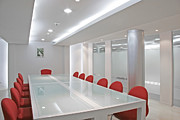 Office Space Metal Prints - Conference Room Metal Print by Setsiri Silapasuwanchai