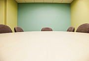 Office Space Metal Prints - Conference Room Table and Chairs Metal Print by Jetta Productions, Inc