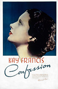 Francis Photo Framed Prints - Confession, Kay Francis, 1937 Framed Print by Everett