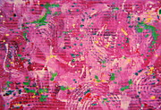 Dropped  Painting Prints - Confetti Print by Sharon K Wilson 