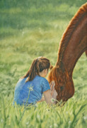 Oils Paintings - Confidante by Simona Tarakeviciute