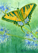 Strength Paintings - Confidence Butterfly by Charlotte Garrett