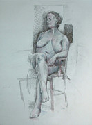 Confident Nude Print by Mark Johnson