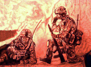 Iraq Prints Art - Confrontation by Johnee Fullerton