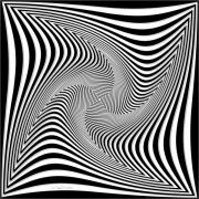 Op Art Digital Art Posters - Confusion in Black and White Poster by Christine Kuehnel