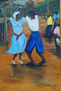 Haitian Paintings - Congo Dance by Nicole Jean-Louis