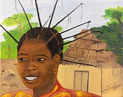 Neg Mawon Paintings - Congolese Woman by Nicole Jean-Louis