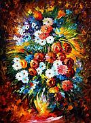 Yelllow Posters - Congradulation Poster by Leonid Afremov