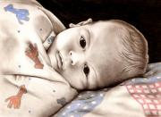 Blanket Mixed Media Prints - Congrats on new baby Print by Debbie Chrisco