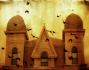 Eerie Digital Art - Congregation of ravens by Gothicolors And Crows