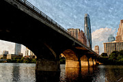 Austin. Bats Framed Prints - Congress Avenue Bridge and Downtown Austin Texas Framed Print by Sarah Broadmeadow-Thomas