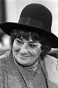 Activists Framed Prints - Congresswoman Bella Abzug At Press Framed Print by Everett