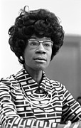 African American Framed Prints - Congresswoman Shirley Chisholm Framed Print by Everett