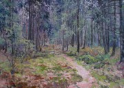 Pathway Paintings - Coniferous forest by Andrey Soldatenko
