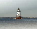 House Pyrography Metal Prints - Conimicut Lighthouse Rhode Island Metal Print by Thomas Theroux