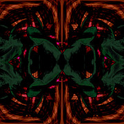 Pulsing Prints - Conjoint - Copper and Green Print by Christopher Gaston