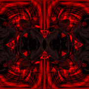 Pulsing Prints - Conjoint - Crimson Print by Christopher Gaston