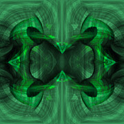 Pulsing Prints - Conjoint - Emerald Print by Christopher Gaston