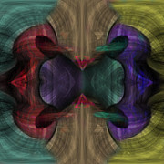 Pulsing Prints - Conjoint - Multicolor Print by Christopher Gaston