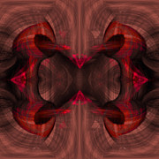 Pulsing Prints - Conjoint - Ruby Print by Christopher Gaston