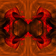 Pulsing Prints - Conjoint - Rust Print by Christopher Gaston
