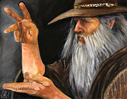 Magicians Paintings - Conjurer by J W Baker