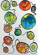 Sketchbook Prints - Connected Print by Carolyn Weir