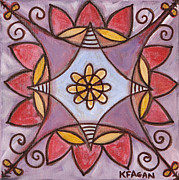 Chakra Paintings - Connected in Spirit by Kristen Fagan
