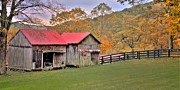 Old Barns Metal Prints - Connecticut Memories - Early Autumn scenic Metal Print by Thomas Schoeller
