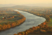 Deerfield River Metal Prints - Connecticut River Mount Sugarloaf Metal Print by John Burk