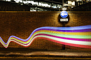 Sign Language Prints - Connection With Dynamic  Fibre Optic Light Trail Print by John Rensten
