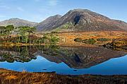 Connemara Framed Prints - Connemara Lake Reflection Framed Print by Pierre Leclerc
