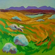 Connemara Paintings - Connemara landscape by Greg Long
