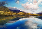 Roman Burgan Art - Connemara Mountain lake by Roman Burgan