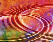 Hearts Digital Art - Connexion by Ann Croon