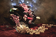Wine Corks Prints - Connoisseur II Print by Tom Mc Nemar