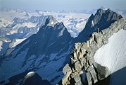 Jogging Prints - Conrad Anker On Mount Combatant, Coast Print by Jimmy Chin