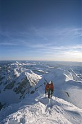 Conrad Anker Summits A Mountain Print by Jimmy Chin