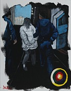 Police Paintings - Consequences of Drug Use by Jean Kieffer