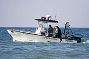 Harbor Photos - Conservation patrol boat by Purcell Pictures