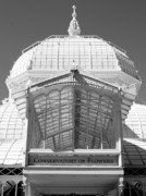 Golden Gate Park Photos - Conservatory Entrance in Black and White by Carol Groenen