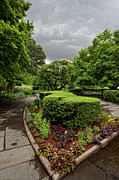 Daniel Pastels Prints - Conservatory Garden Before the Storm 2 Print by Robert Ullmann
