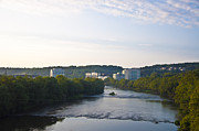 Schuylkill Photos - Conshohocken Along the Schuylkill River by Bill Cannon