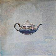 Silver Tea Pot Paintings - Consigned - Chinese Tea Pot  by Violet Taylor