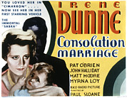 Thd Framed Prints - Consolation Marriage, Irene Dunne Framed Print by Everett