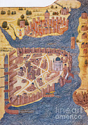 Byzantium Prints - Constantinople, 1485 Print by Photo Researchers