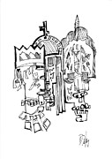 Religion Drawings - Constantinople by Dan Daulby