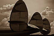 Lockheed Aircraft Framed Prints - Constellation Tail Framed Print by Patrick  Flynn