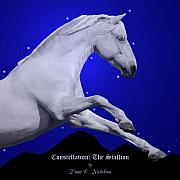 Equine Digital Art - Constellation The Stallion by Diane C Nicholson