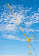 Tower Crane Posters - Construction crane Poster by Tom Gowanlock